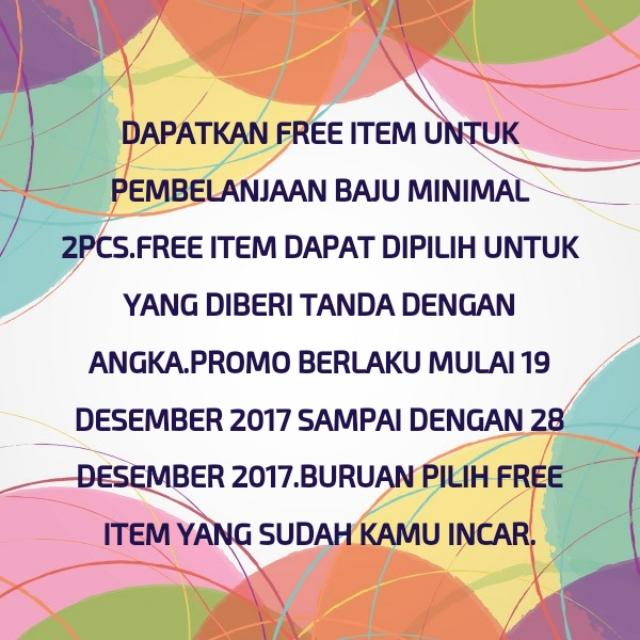 SHOP AND CHOOSE YOUR FREE ITEM