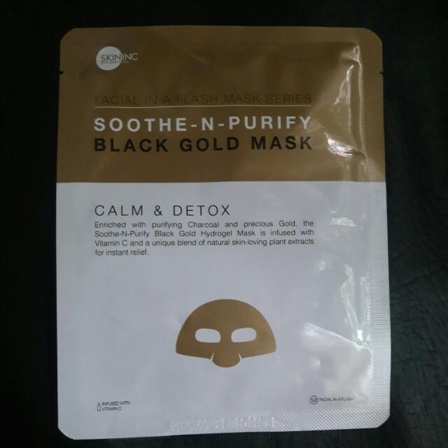 Skin Inc Soothe-N-Purify Black Gold Mask