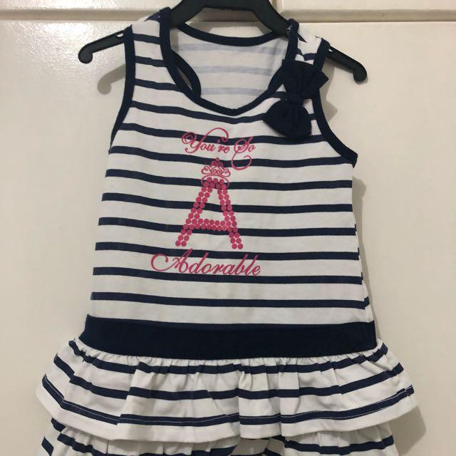 Stripes Blue and White Dress