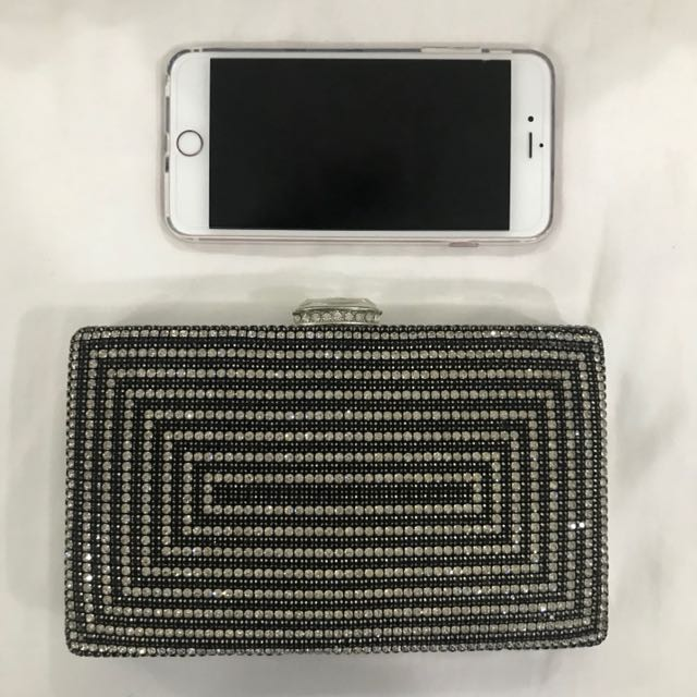 Swarovski party clutch bag