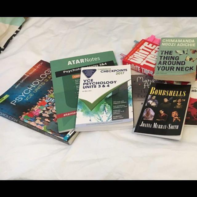 Textbooks, novels, notes