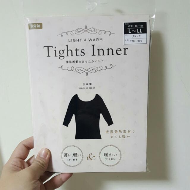 【全新】日本製Tights Inner吸濕保暖發熱衣