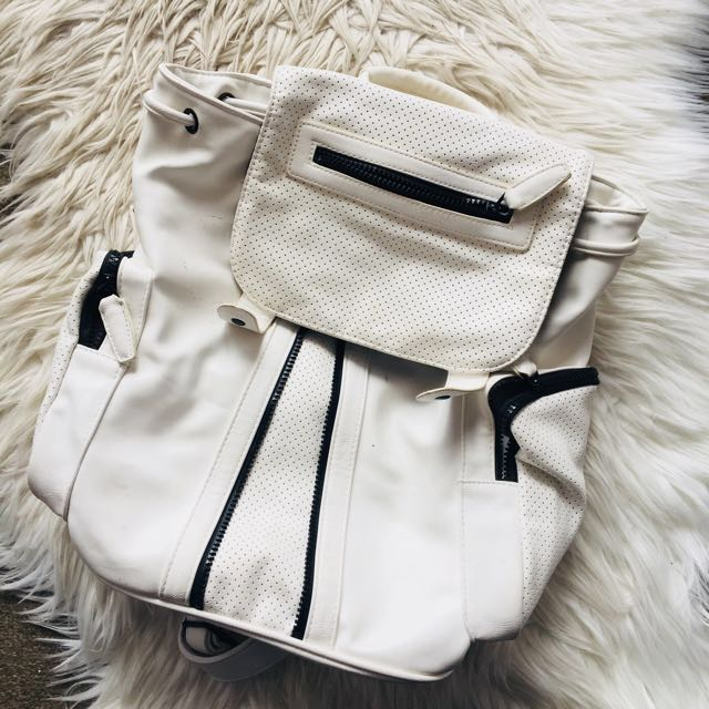 Topshop White Backpack