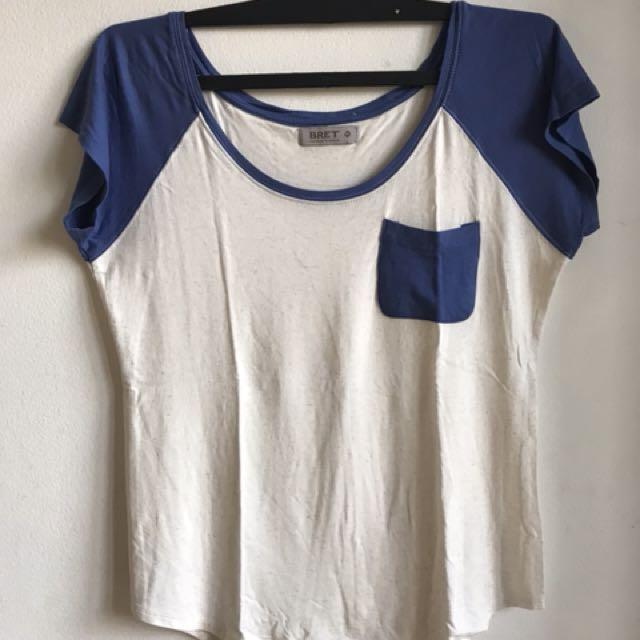 Tshirt broken white blue