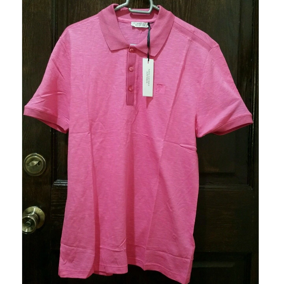 Versace Collection Men's Casual Shirt - M - Pink
