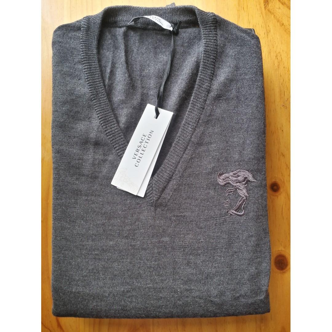 Versace Collection Men's Sweater / Jumper - M - Grey