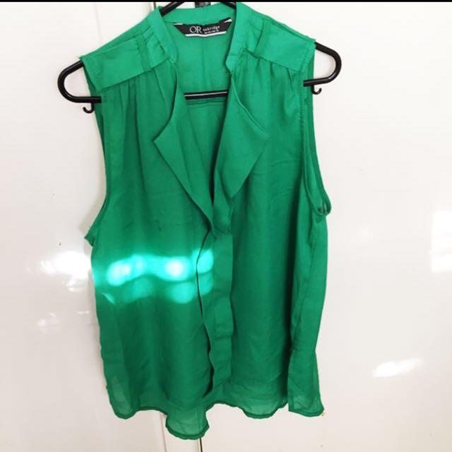 VIBRANT GREEN TOP