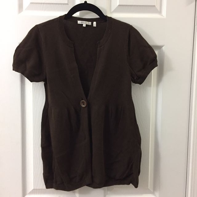 VINCE short sleeve sweater - small