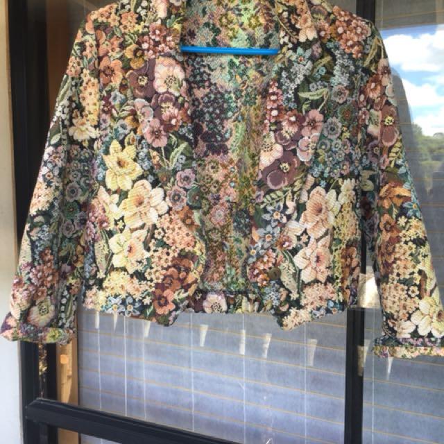 Vintage brocade floral jacket