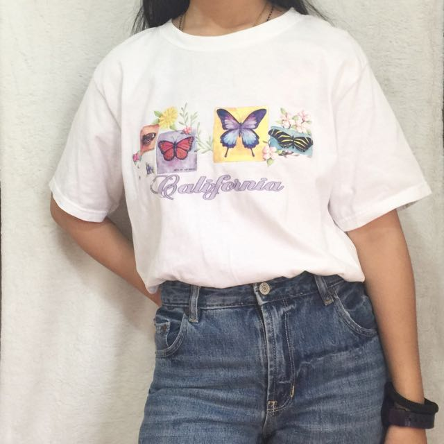 Vintage California shirt / Mom jeans
