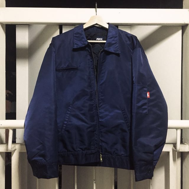 Vintage Navy FUCT Coach Jacket Windbreaker Sz M