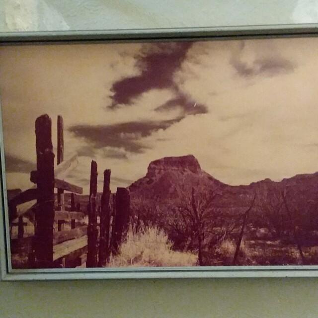 "Wall Picture ""Castillo Peak"" Artist Charles Carman"