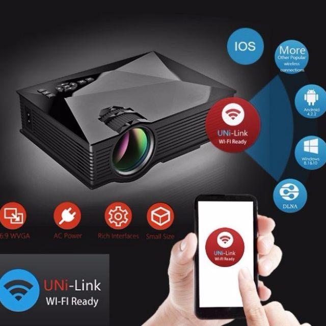 WiFi Portable LED 無線投影機 Projector
