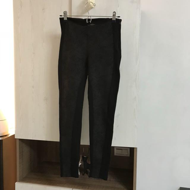二手免運🌿ZARA黑色彈力長褲