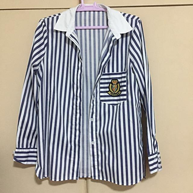 Zara inspired stripes long sleeves