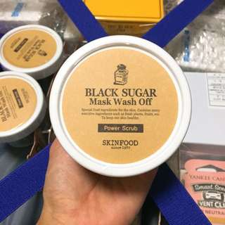 🌟Skin food black sugar scrub wash off