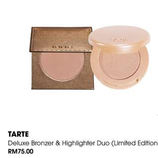 Tarte deluxe bronzer & highlighter duo