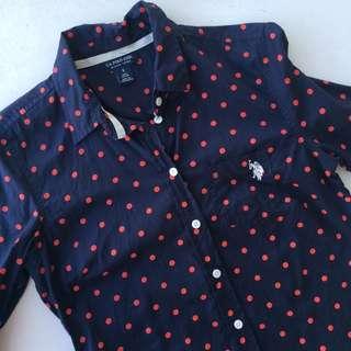 US Polo Assn. Polka Dots Polo Shirt