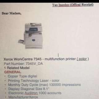 Fuji Xerox 7345 Multi Color copier