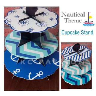 🎂NAUTICAL • NAVAL • MARINE • CHEVRONS THEMED 3 TIER CUPCAKE STAND