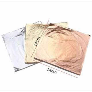 😍💥100 PIECES GOLD LEAF FOIL PAPER FOR SLIME HANDICRAFT
