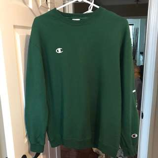 Green Champion Crewneck