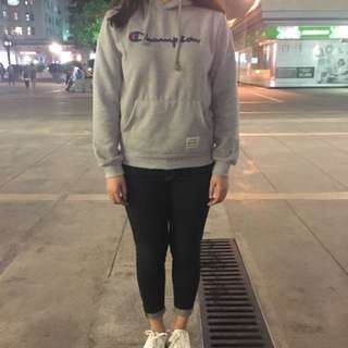 Champion hoodies m size for Black one and s size for grey one