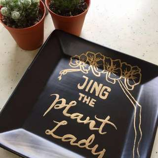 Customized Quote or name on Plate in Silver or Gold
