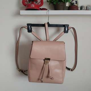 F21 light pink leather backpack