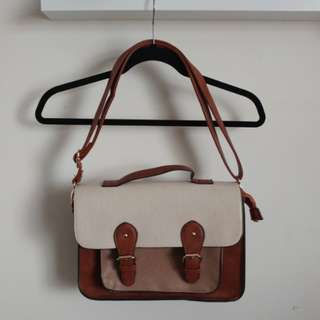 Call it Spring brown satchel