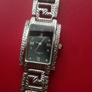 Elegance 18kt white gold plated Swiss watch