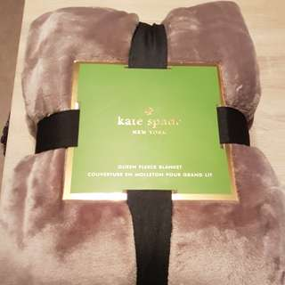 Kate Spade Queen Plush Blanket