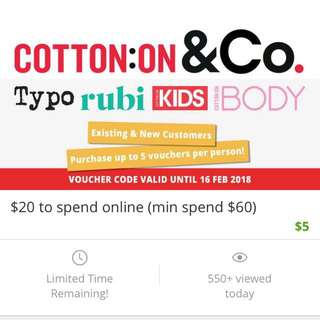 Cotton on $20 voucher