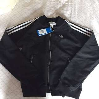 Adidas Track top (black) size S