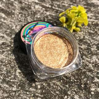 Christmas Tinsel foiled gold eyeshadow