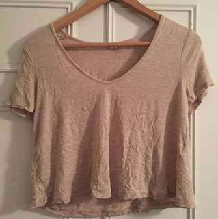Garage v neck top