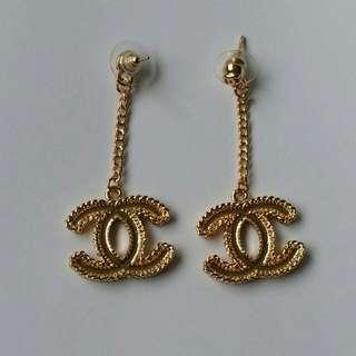 New Chanel Inspired CC Dangle Drop Earrings