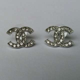 New Chanel Inspired CC diamonte Stud Earrings