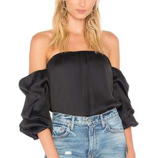 Bardot caught sleeve bustier