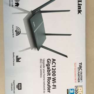 D-link AC1200WIFI  ROUTER, 98%new