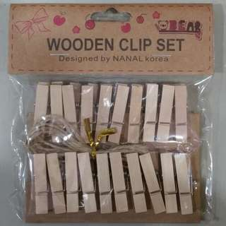 Mini Wooden Clips #1 (Plain)