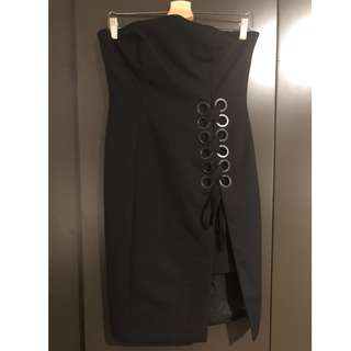 Finders Keepers Black Strapless Dress