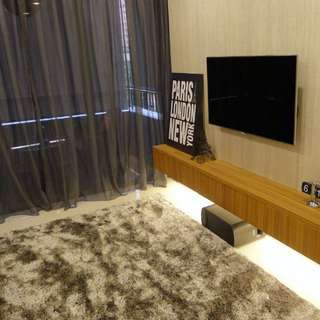 Carpet courts grey modern long medium fur thick carpet