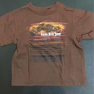 Calvin Klein brown printed shirt (2-4yo)