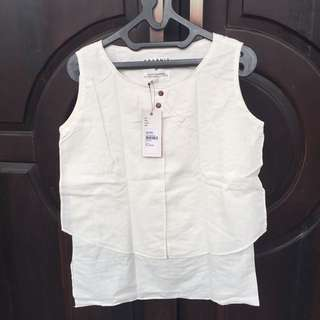 White Sleeveless Top by Graphis