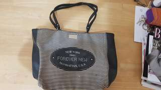 Black and white tote bag FOREVER NEW