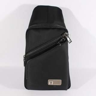 TAS SELEMPANG SHOULDER BAG BODYPACK IMPORT BRANDED | AIGNER 604 BLACK
