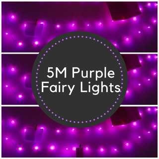 FAIRYLIGHTS Uses Batteries Purple 5M LED Lightweight