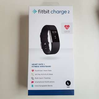New Sealed Fitbit Charge 2 Black Colour