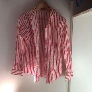 Red Pinstripe Shirt